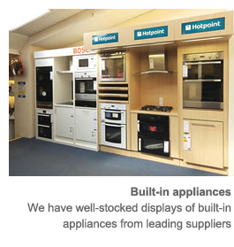 Goddards Electrical shop built-in appliance display
