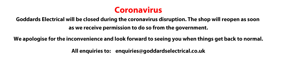 Coronavirus message on website