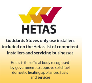 Goddards Stoves are Hetas approved installers